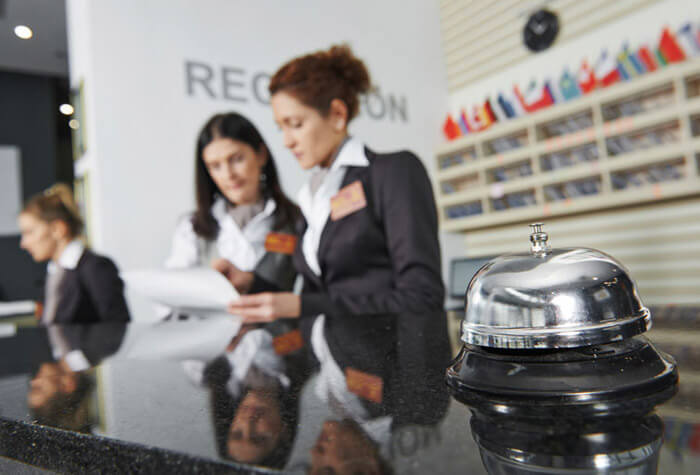 Hospitality Training at front desk