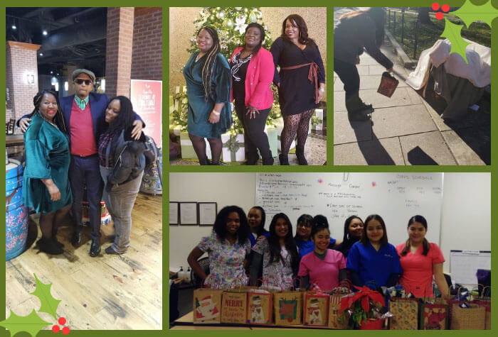 A collage of CTI students and staff for the holidays