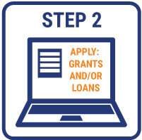 Apply to Grants and or Loans Graphic