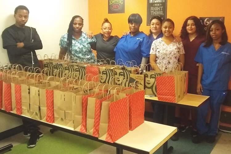 Medical Assistant's Annual Winter Drive for the Homeless Event with Students.