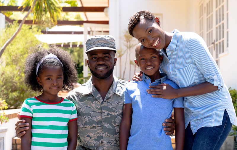 A soldier with his family wondering How to Use Your GI Bill for Certification and Training.